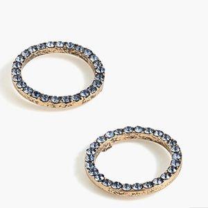 J.crew pave circle earring